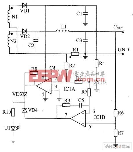 图 由LM358放大器与精密电压调整器TL341构成的恒压、恒流控制电路图片