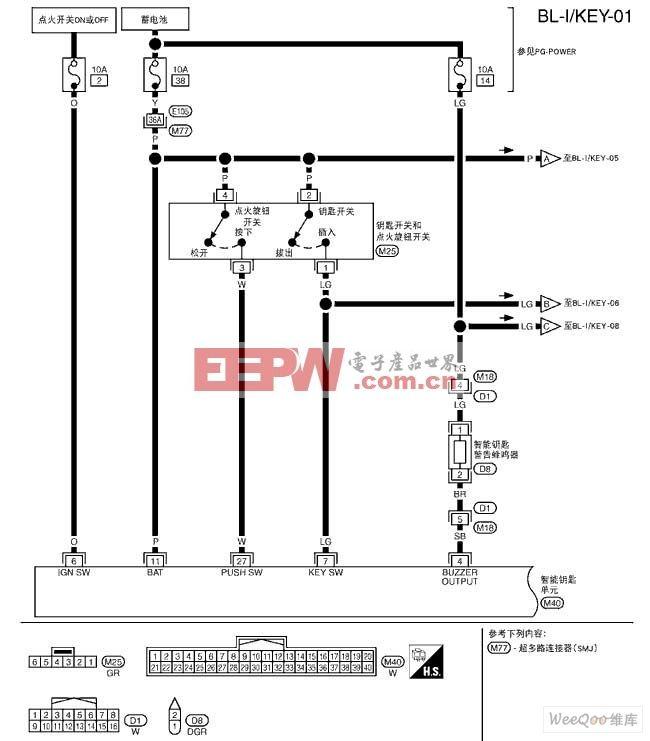 骐达-BL智能钥匙系统电路图