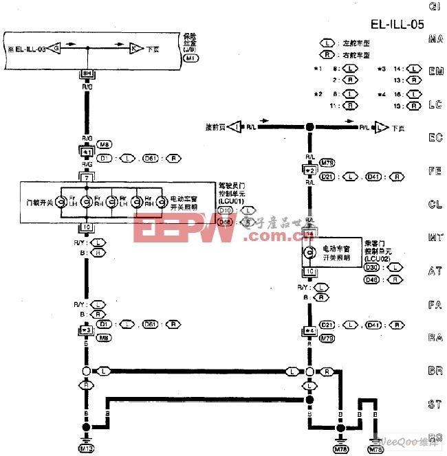 尼桑A32-EL照明电路图五