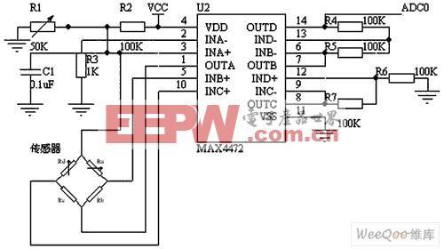 血压传感电路及滤波和放大电路图