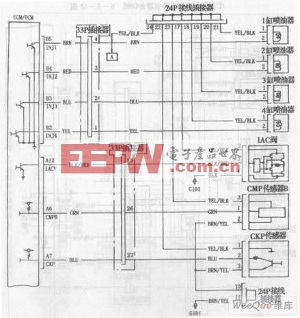 003年款车型发动机电路图一高清图片