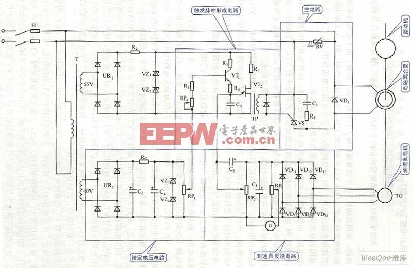 电磁测速控制电路图