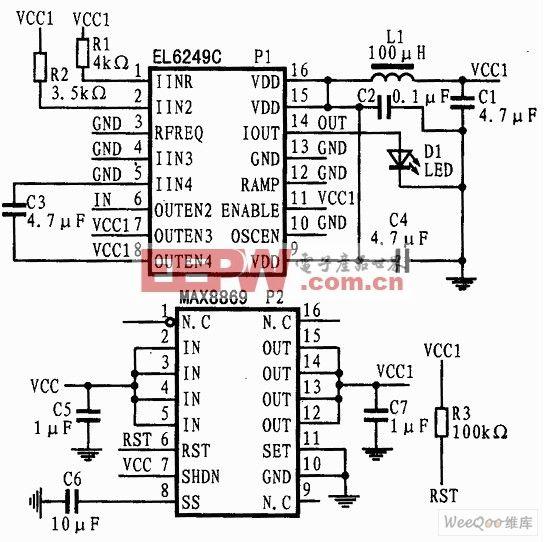 MEMS频闪驱动电路图
