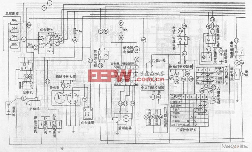 金杯海狮sy6480af型客车整车电路图一高清图片