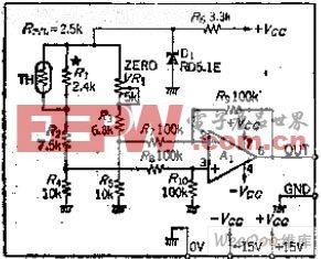 简化桥式热敏温度测量电路图