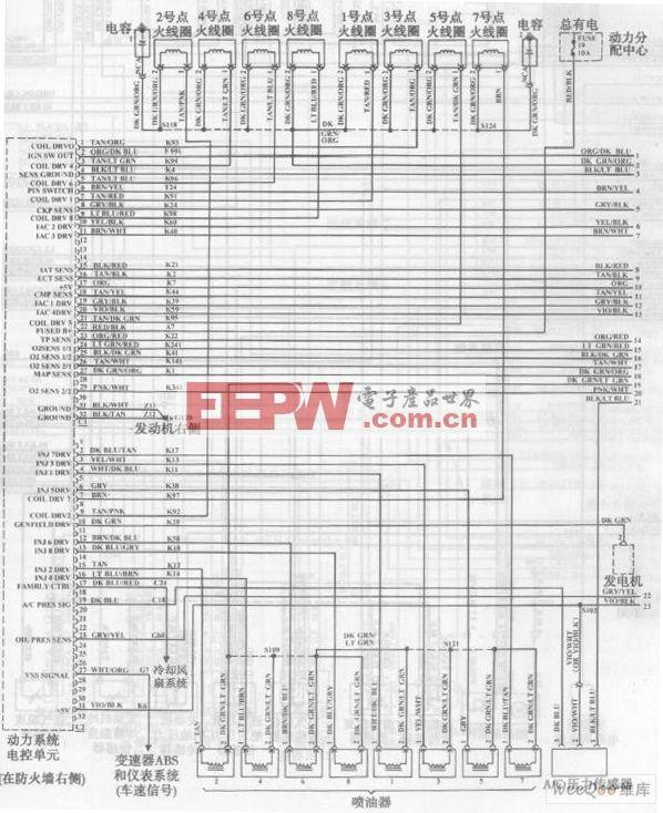 通用五菱汽车整车电气系统电路图一图片
