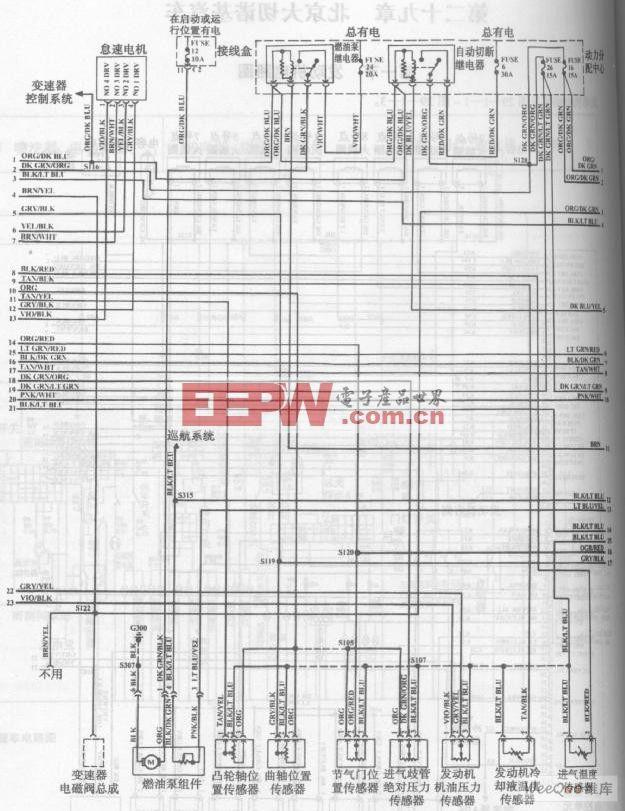 北京大切诺基汽车发动机电路图二高清图片