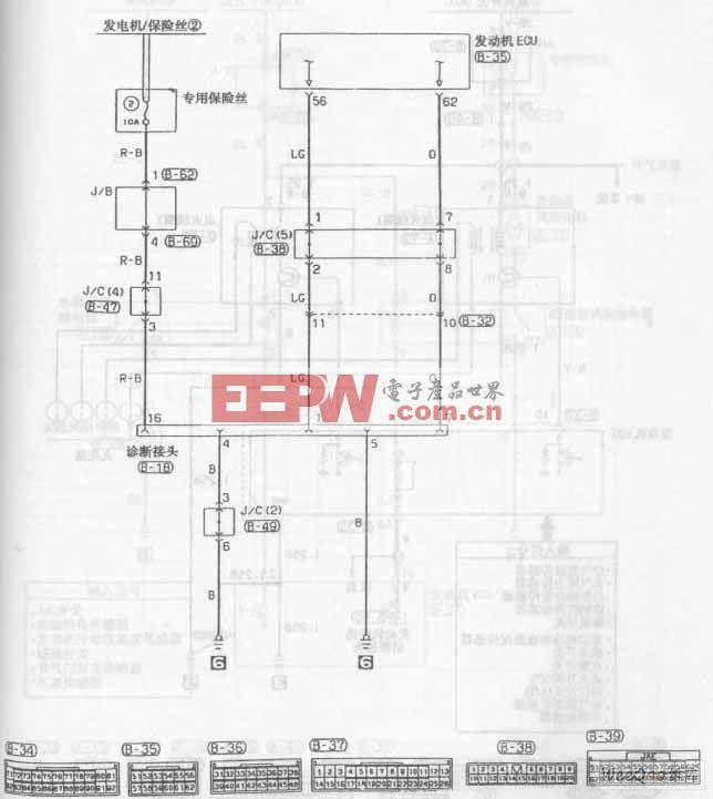 东南菱帅轿车发动MPI系统电路图八