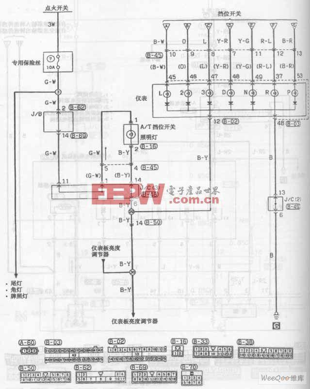 东南菱帅轿车自动变速器电路图五