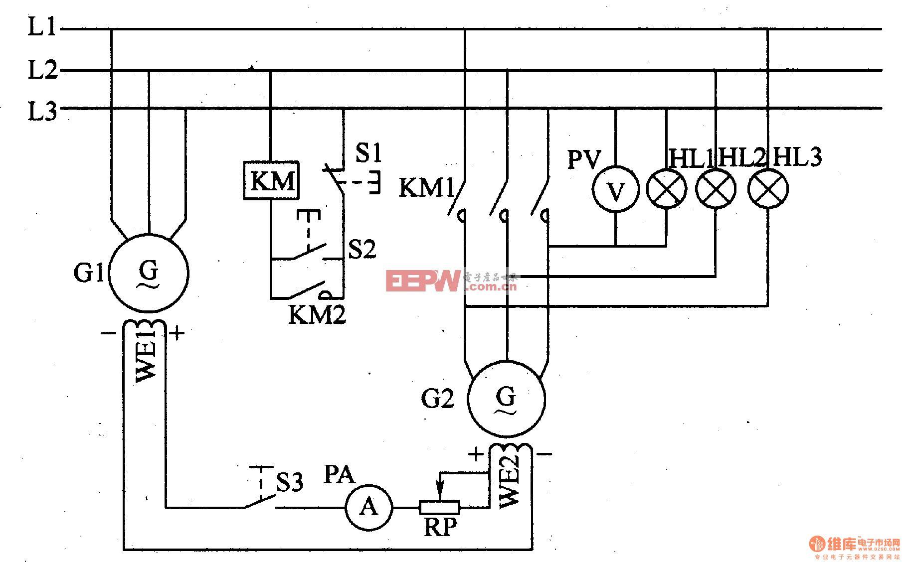 半导体励磁发电机组并网电路