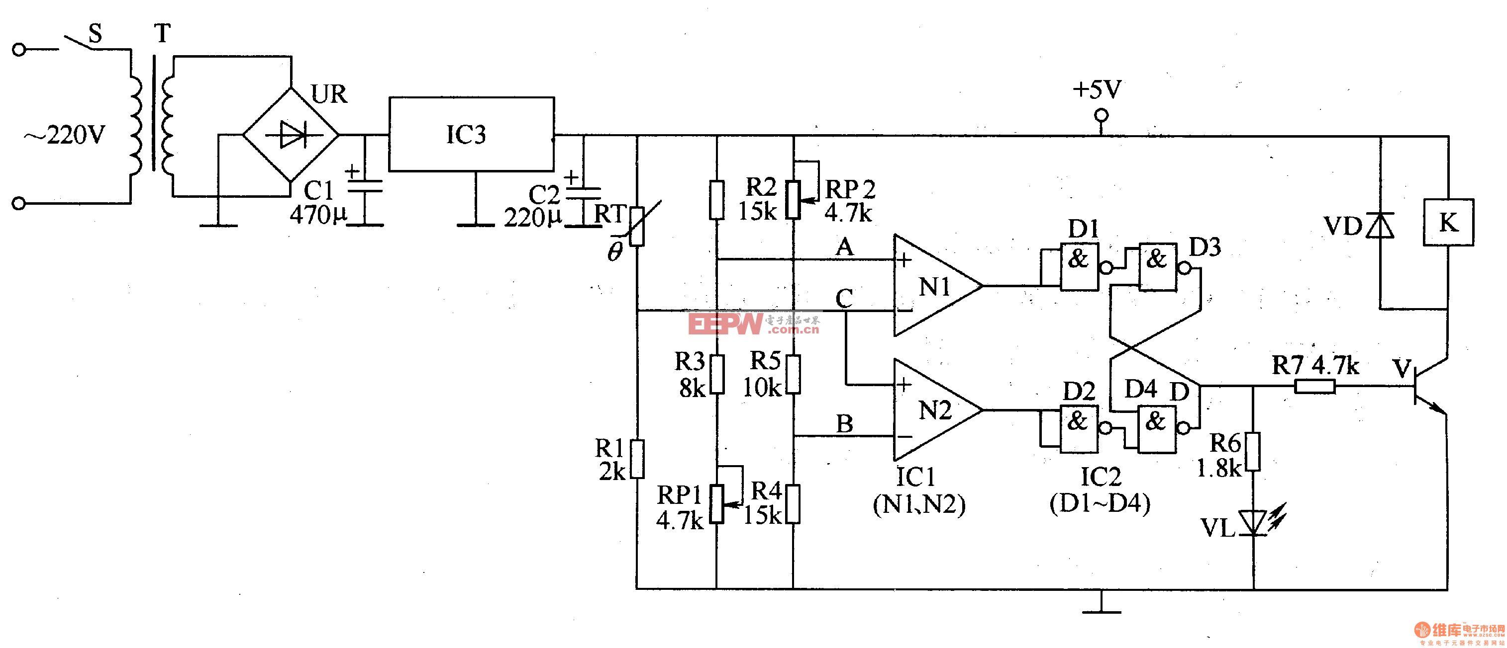 常压锅炉自动温度控带器