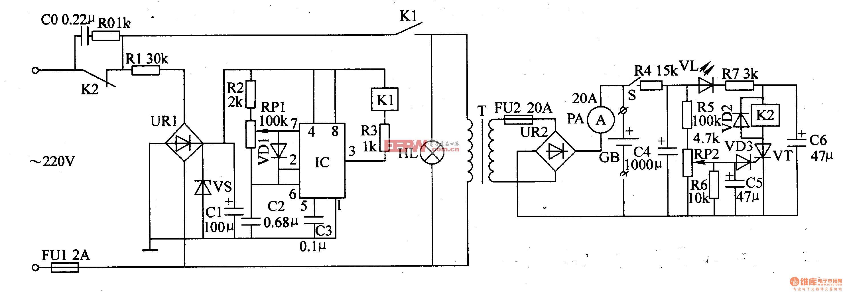 摩托车 三脚继电器接线图