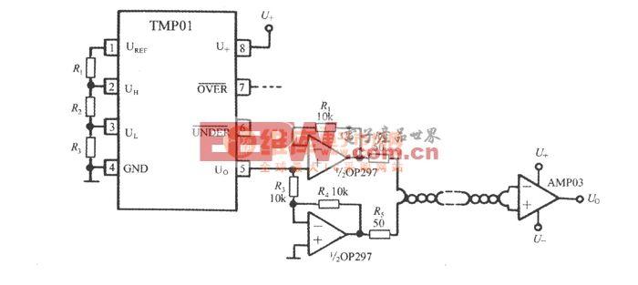 利用双绞线传输温度信号(低功耗可编程集成温度控制器TMP01)