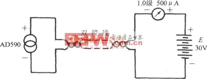 由电流输出式精密集成温度传感器AD590构成的模拟式温度计