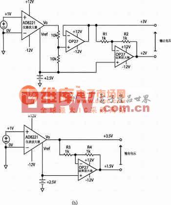 计精密差分输出仪表放大器的应用电路图图片