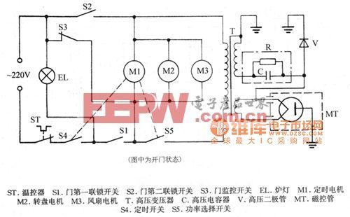 韩国RE-630D机械式微波炉电路图
