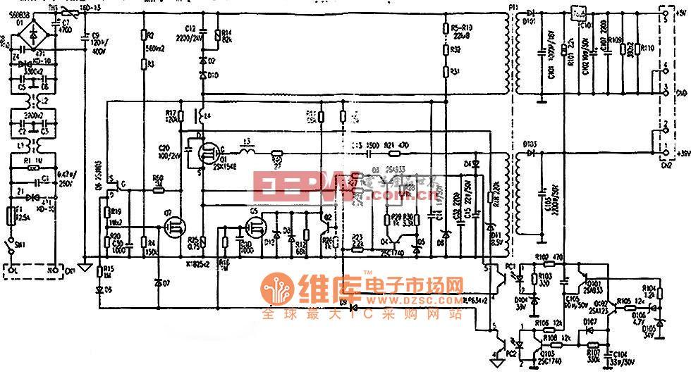 松下KX-P1121打印机电源电路图
