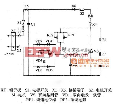 飞利浦HR65系列吸尘器电路图