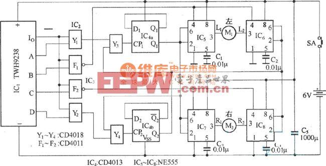 电动车遥控器电路图 电路图 电子产品世界高清图片