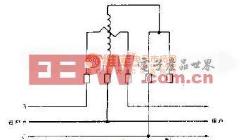 用一只单相电度表测量三相无功电能接线电路图