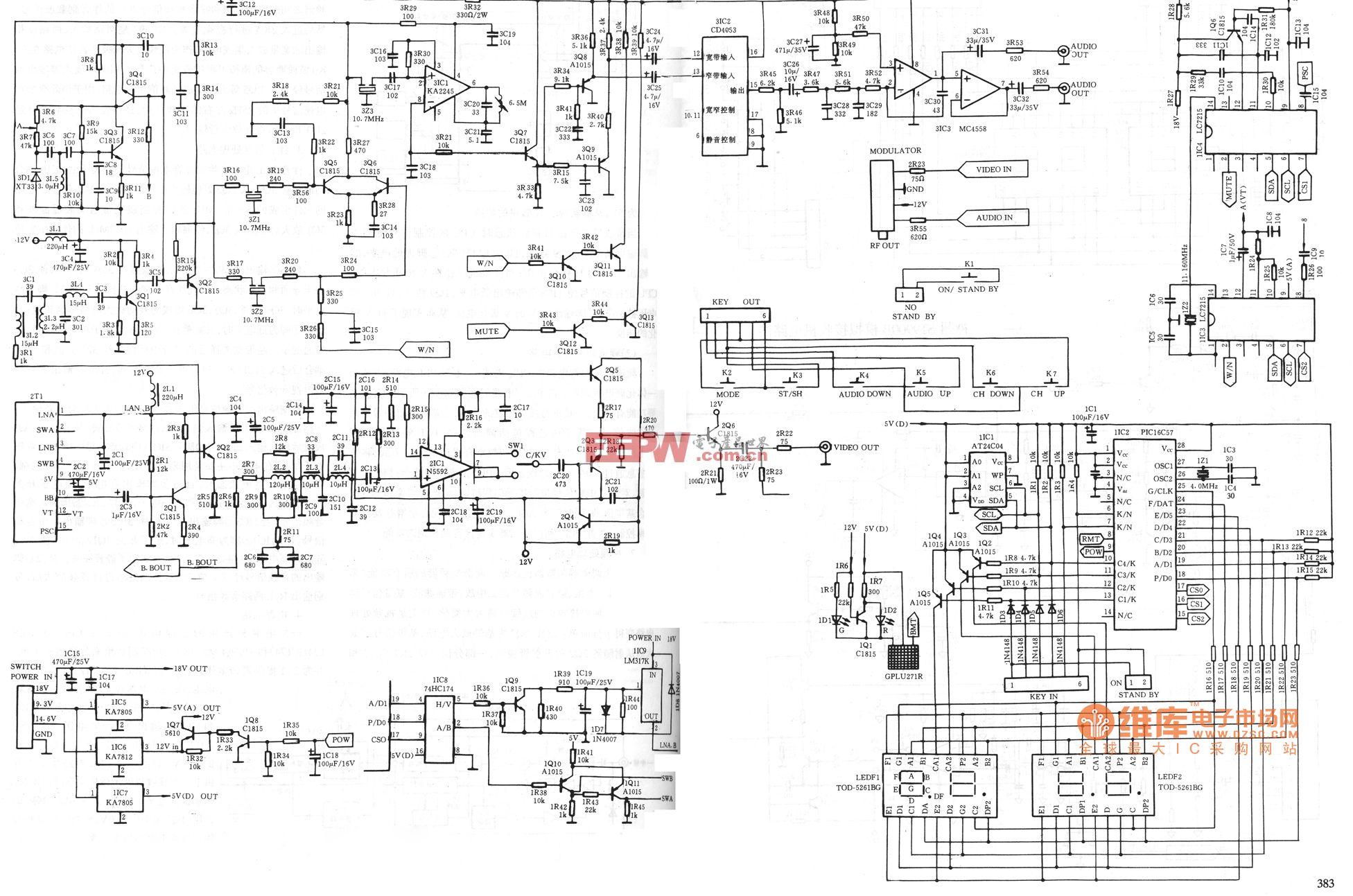 神州ST-9900D模拟接收机电路图