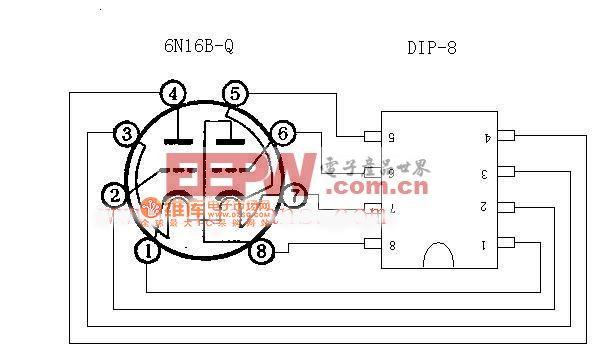 6N16B的管脚定义引脚定义电路图