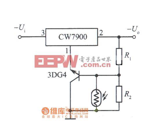 光控稳压电源(光照时输出电压下降)电路图