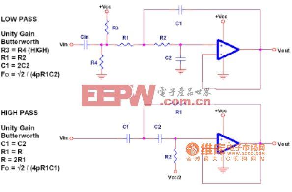 Sallen-Key滤波器电路图