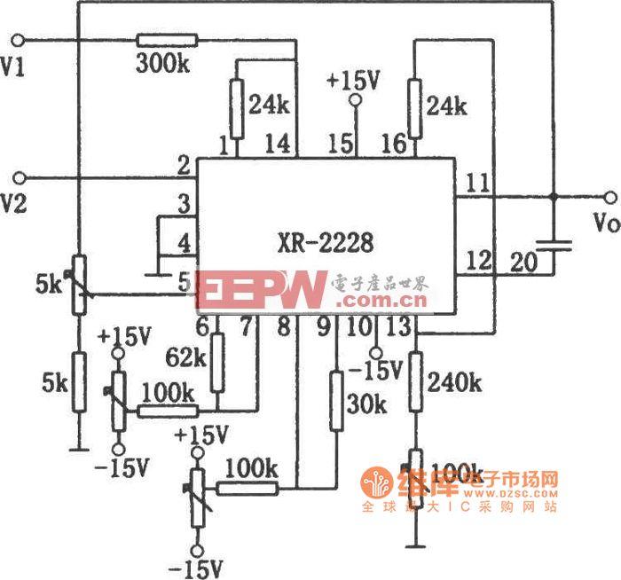 XR-2228除法电路图