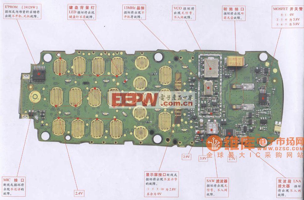 波导MC938/936维修电路图
