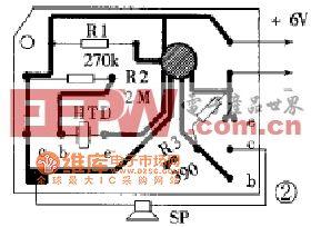 声控娃娃的印刷线路板电路图