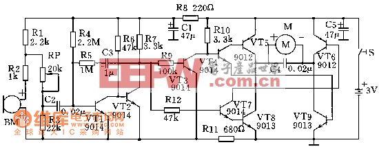 MT-700声控飞蝶电路图
