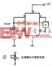 Pt100厚模铂电阻接口电路图