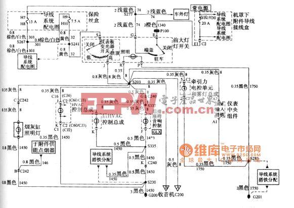 别克GL8汽车前大灯开关 仪表中央组件 采暖通风空调HVAC控制总成 高清图片