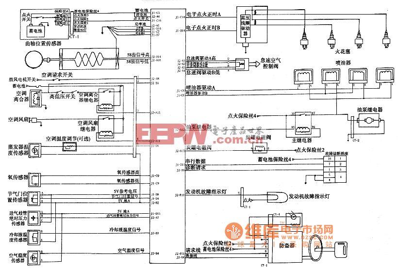 德尔福电控系统电路图