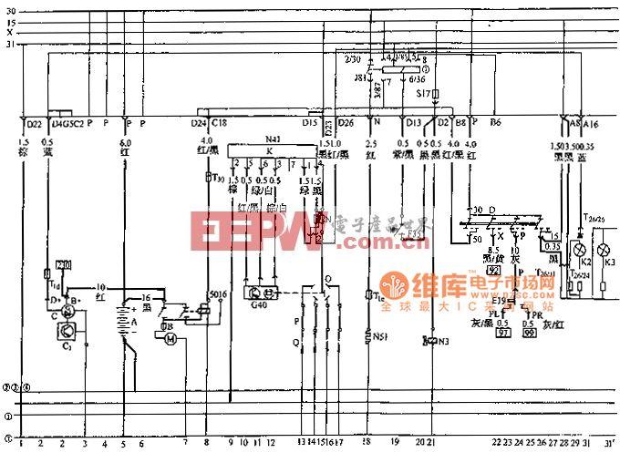 桑塔纳2000系列轿车其他电气系统电路图