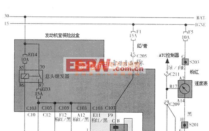 大宇汽车VGIS CCP里程表传感器 轮轴传感器电路图高清图片
