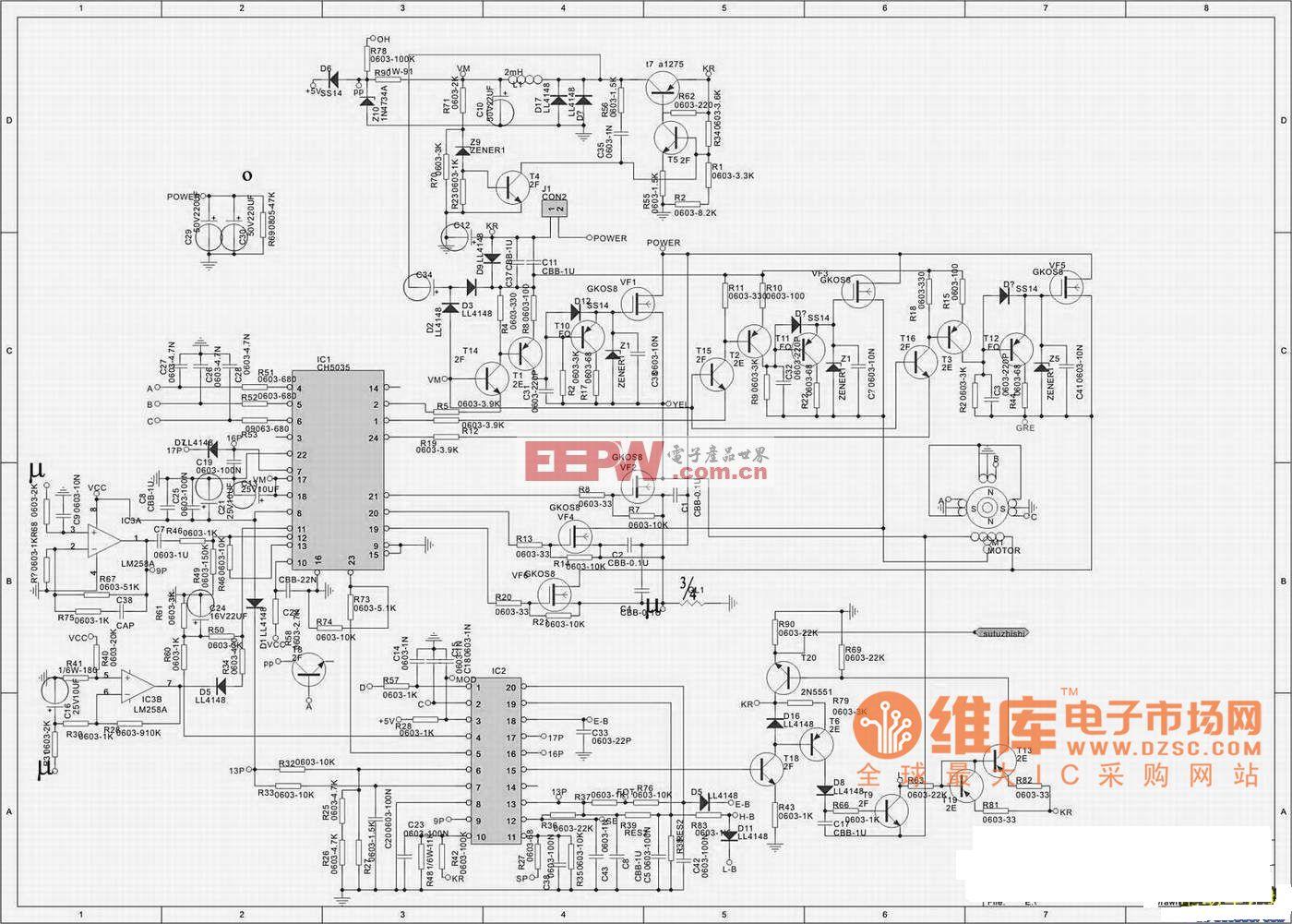 wzk4815松正电动车无刷控制器原理图_电路图_电子产品