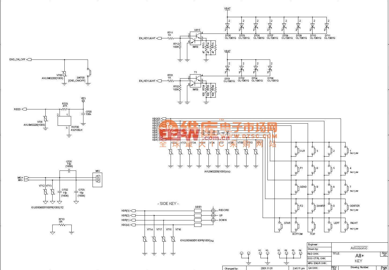 夏新A8+界面电路原理图一