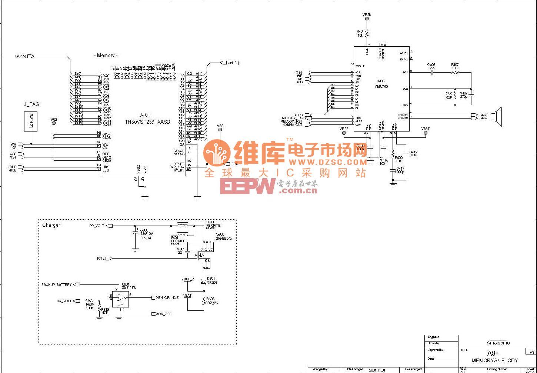 夏新A8+-16和弦音及逻辑电路原理图