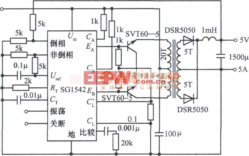 5V 5A开关稳压电源电路图图片