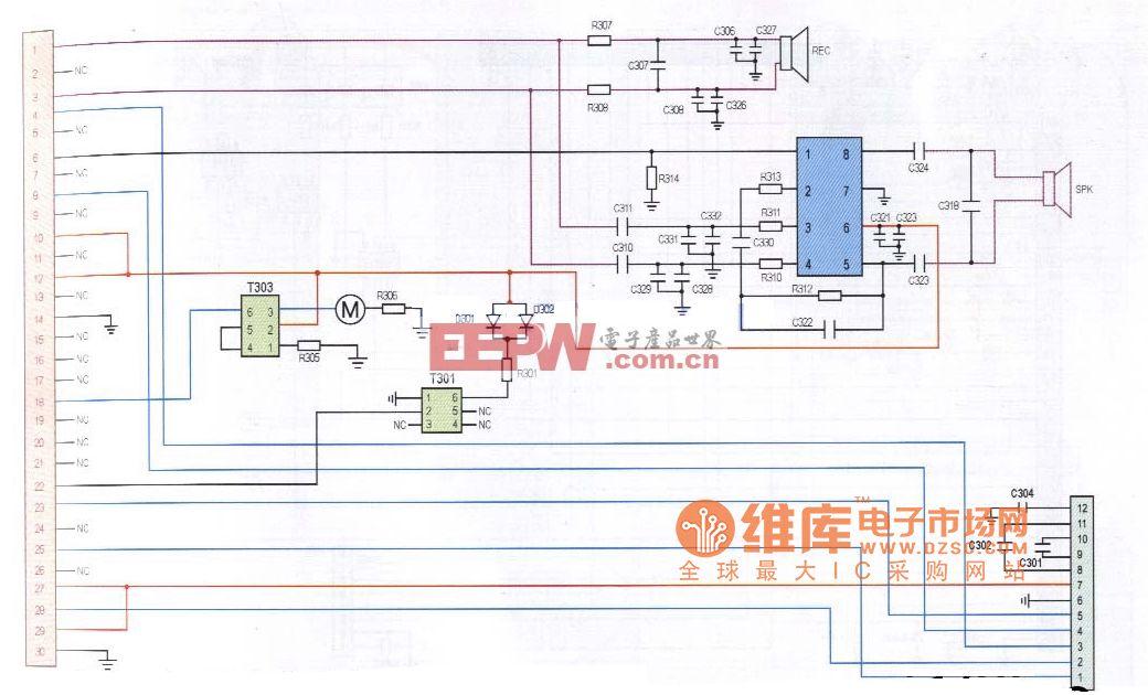 迪比特3269型手机排线电路原理图