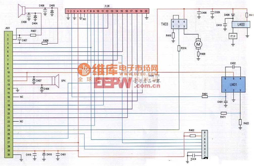 迪比特3268型手机排线电路原理图