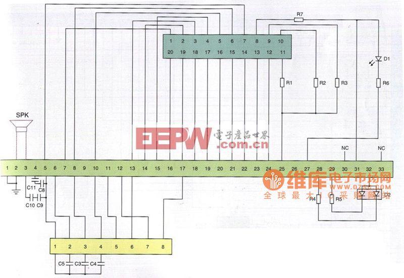 京瓷KZ820型手机排线电路原理图