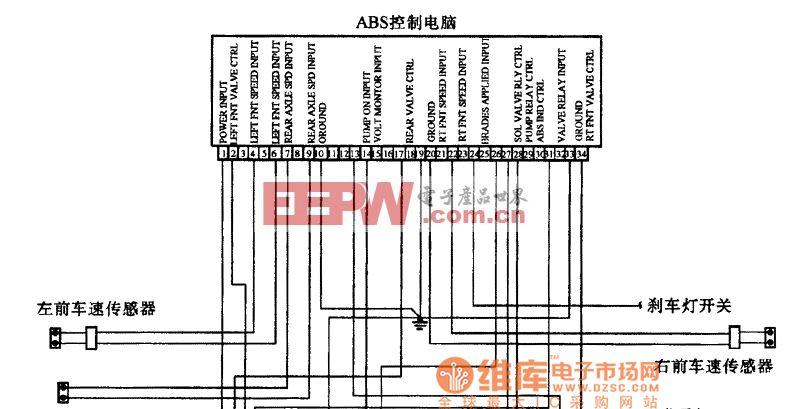 奔驰BENZ BOSCH-35pin ABS系统电路图