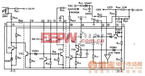 hic1026a集成电路的内电路原理图