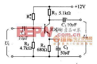 单管Rc藕合共发射极放大电路图