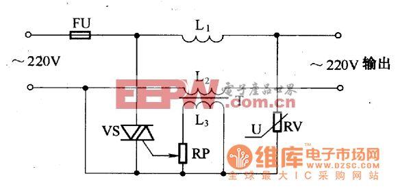 压敏电阻器一双向晶闸管过压保护电路图
