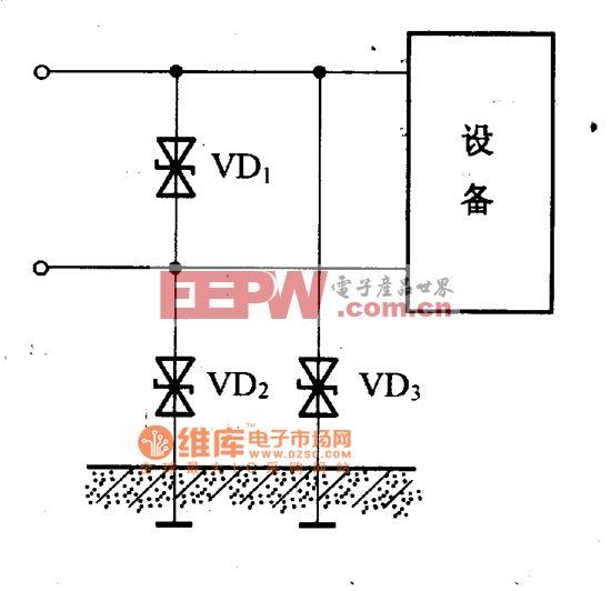 设备防雷保护电路图