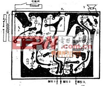 家用供水器的印刷电路图